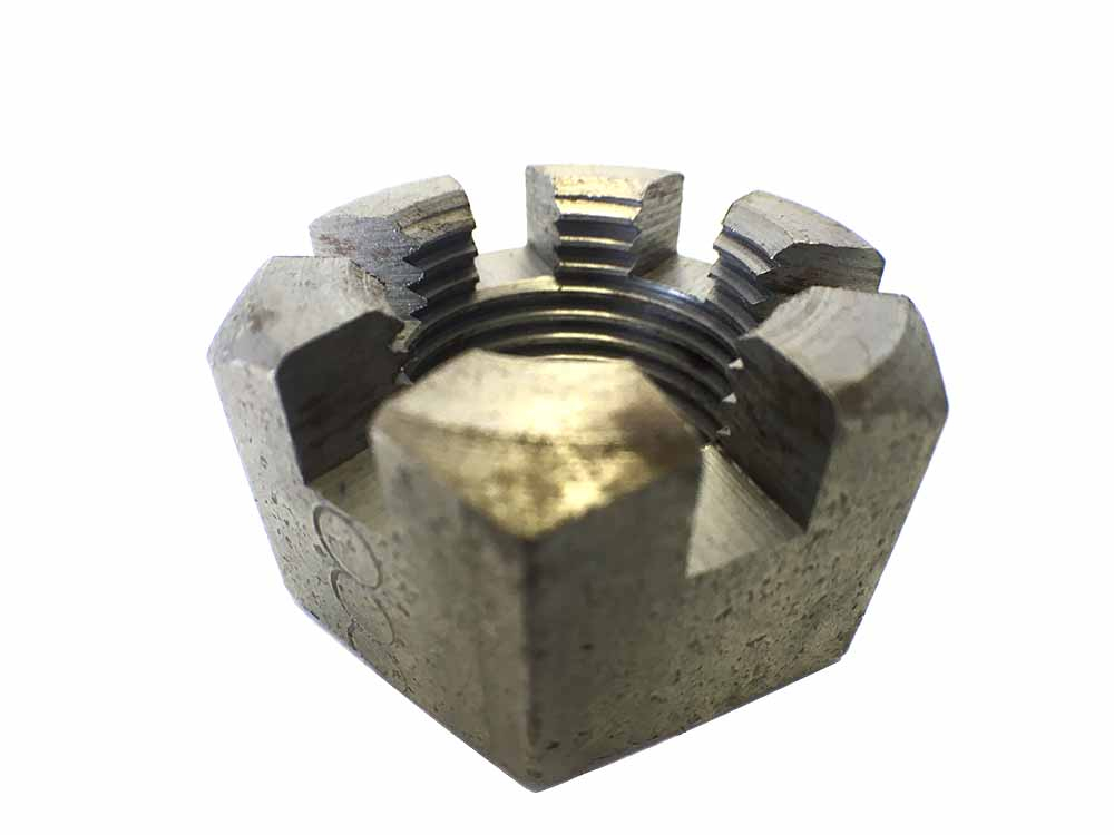 1inch UNF Slotted Nut