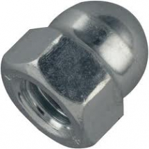 Zinc Plated Dome Nuts