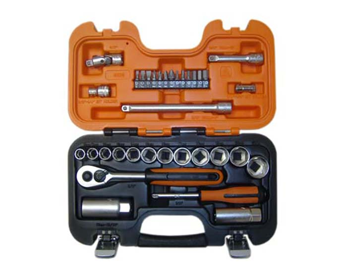 Bahco S330 Socket Set of 34 Imperial 1/4in & 3/8in Drive
