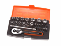 Bahco SL25 Socket Set of 25 Metric 1/4in Drive