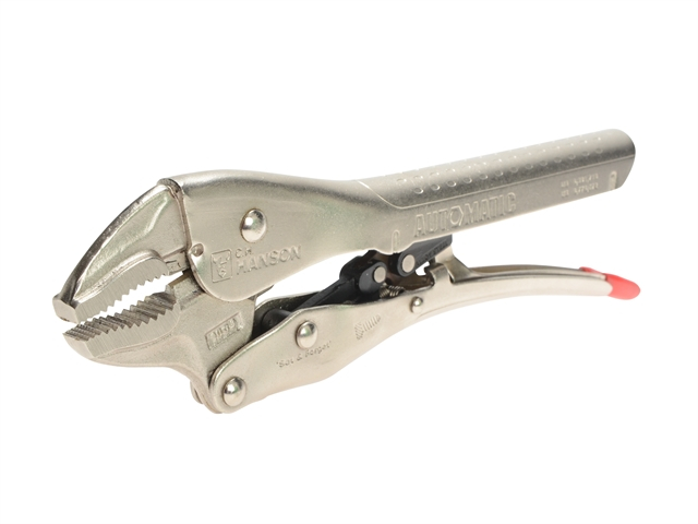 C.H Hanson Automatic Locking Curved Jaw Pliers 250mm (10in)