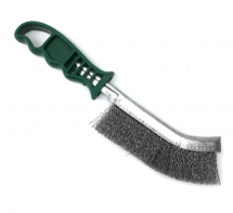 Dronco Stainless Steel Wire Brush Green Plastic Handle