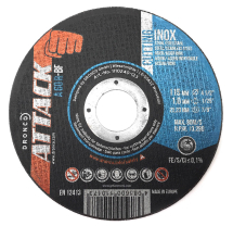 Dronco 115x1mm A60R Attack Flat Metal Cutting Disc