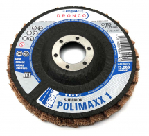 Dronco 115x22.23 Superior Polimaxx 1 Polishing Flap Disc