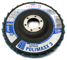 Dronco 115x22.23 Superior Polimaxx 3 Polishing Flap Disc