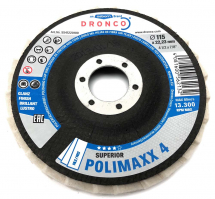 Dronco 115x22.23 Superior Polimaxx 4 Polishing Flap Disc