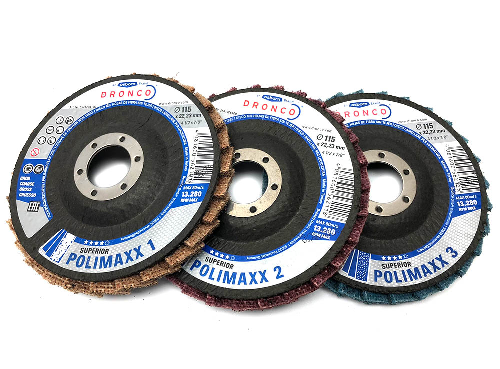 Dronco 115mm 3 Pack Flap Disc Non Woven For Polishing