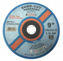 Euro-Cut Stainless Metal Cutting Disc 230mm x 2mm