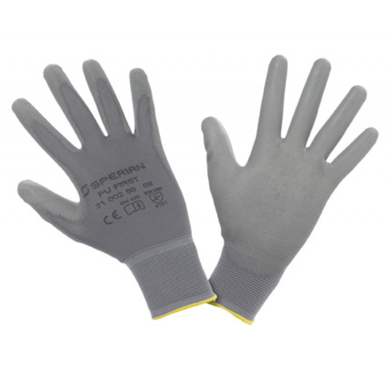 Honeywell PU 1st Grey Poly Work Gloves Size 9 (L)