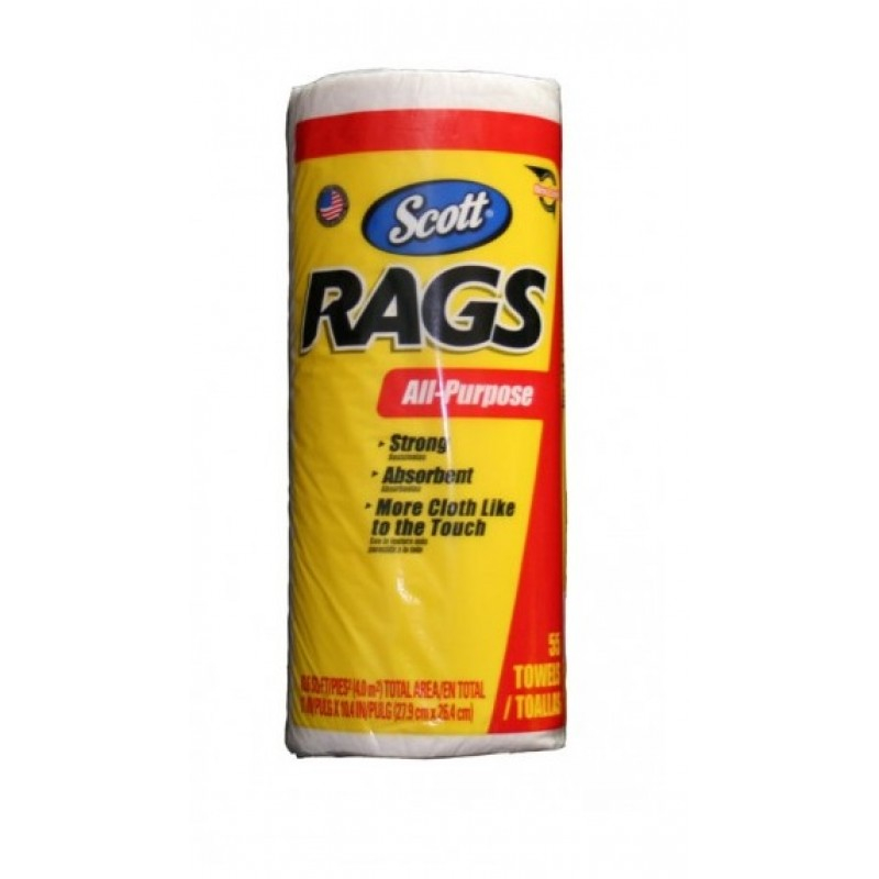 Scott Cloth Rags Multi Purpose White