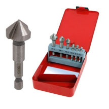 PTI 6pc HSS Countersink Set 1/4inch Hex Shank
