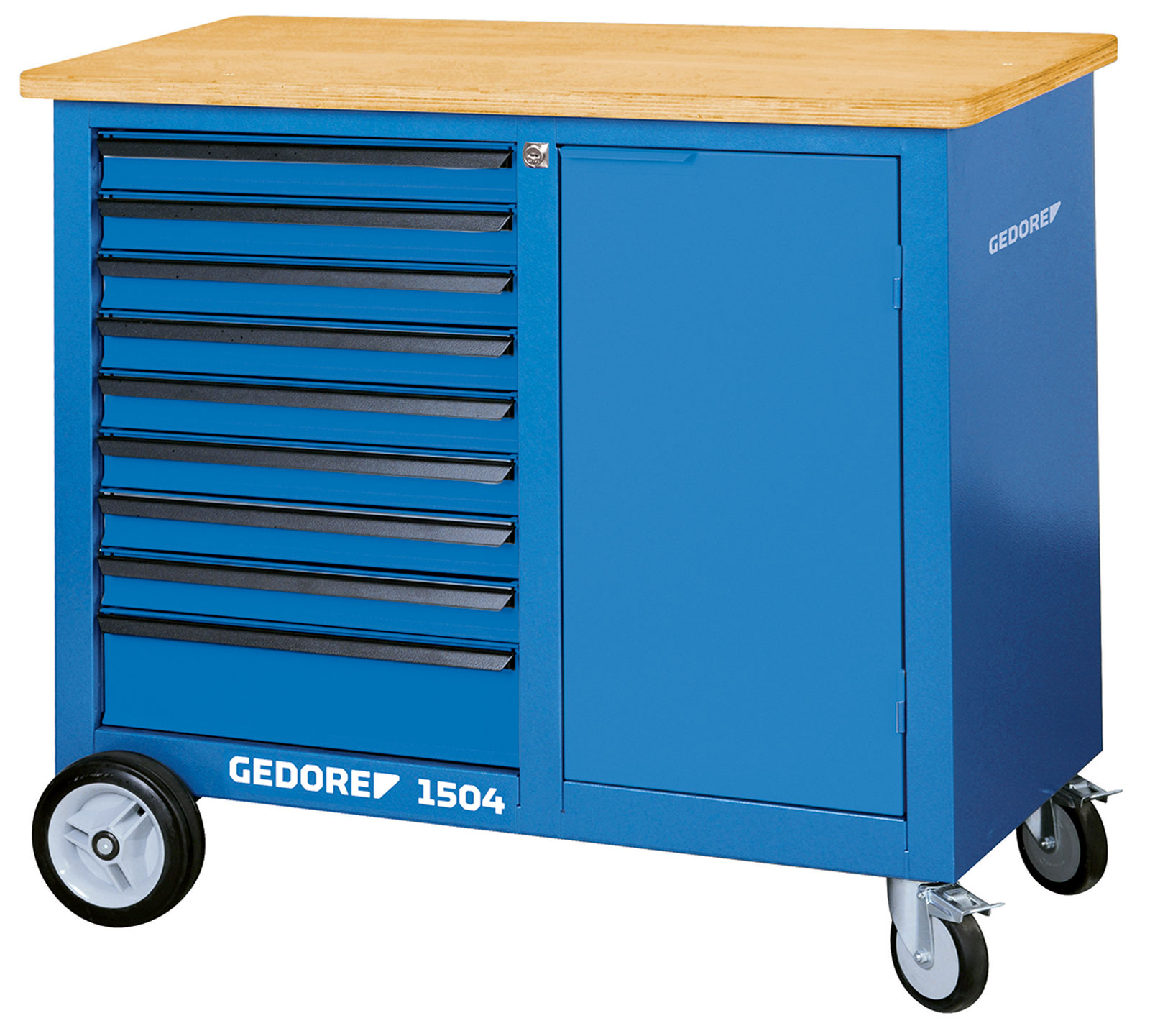 Gedore 1504 0810 Mobile workbench with 9 drawers