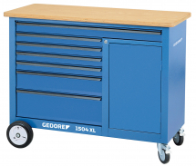 Gedore 1504 XL Mobile workbench, 1.25m wide