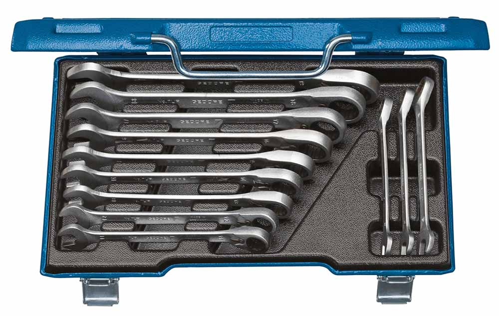 Gedore 2297418 7UR-012 Combination ratchet spanner Set 12 pcs