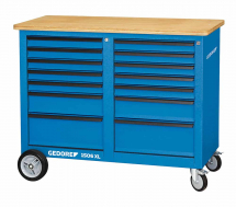 Gedore 1506 XL 2511 Mobile workbench, 1.25m wide