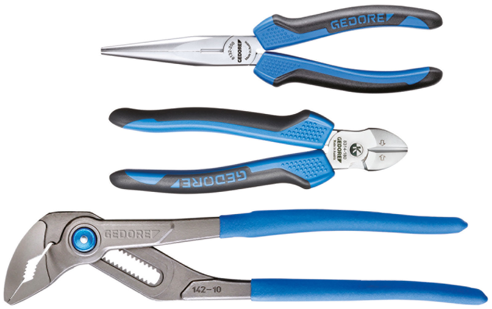 Gedore 1102-007 Pliers 3 piece Set in L-BOXX Mini