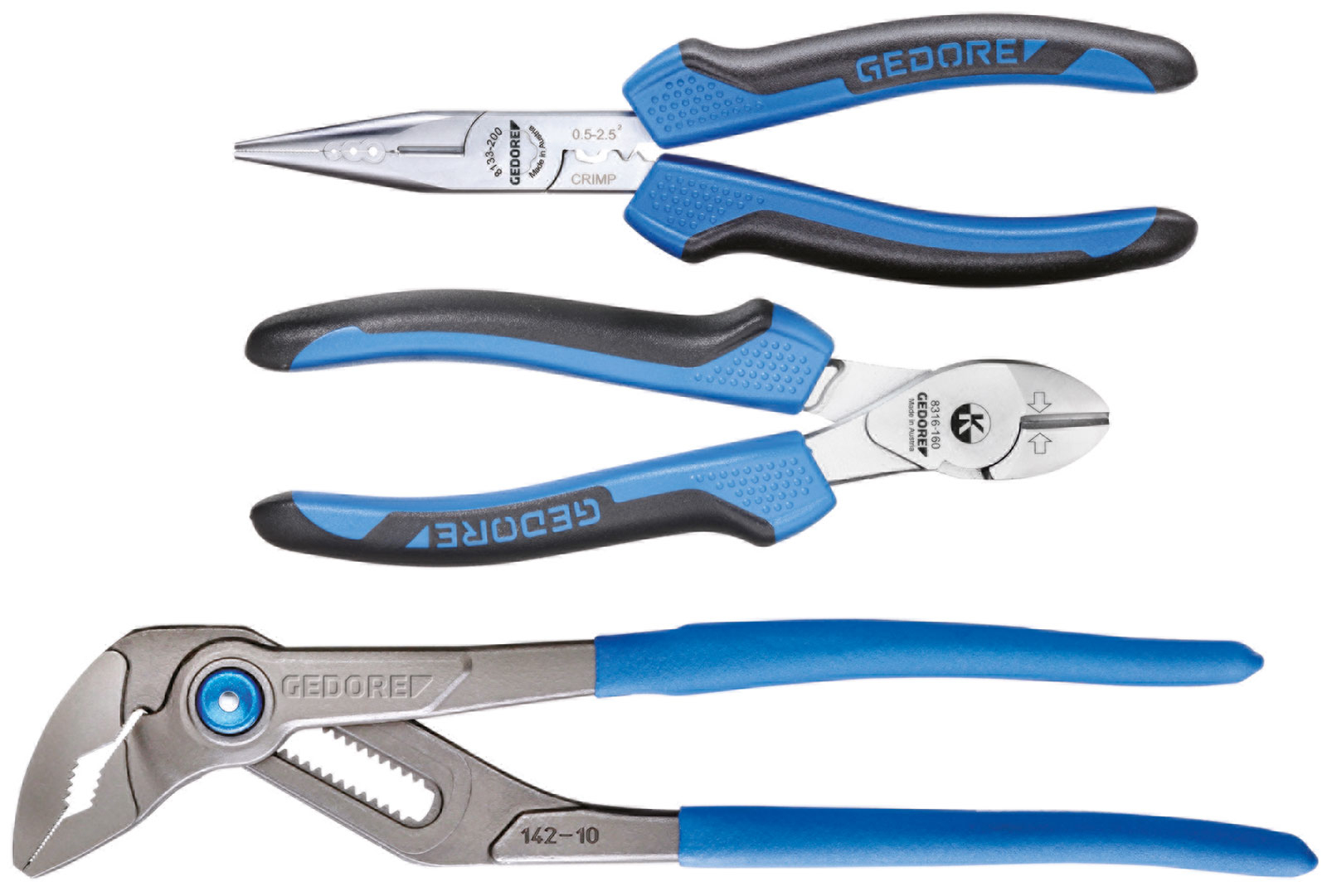 Gedore 1102-008 Pliers 3 piece Set in L-BOXX Mini