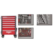Gedore Red R22071004 Tool Trolley Complete With Tools