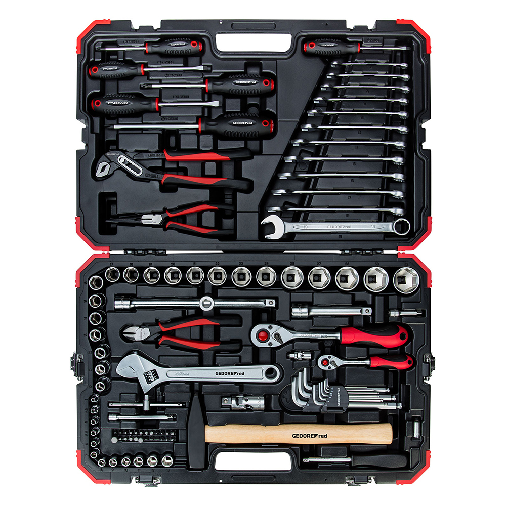 Gedore Red R46003100 Socket set 1/4inch + 1/2inch 10-32mm 100pcs