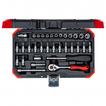 Gedore Red R49003033 1/4inch Socket set 4-13mm 33pcs