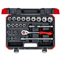 Gedore Red Socket set 1/2 size10-32mm 24pcs