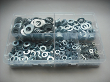 Assorted Kit Of M5-M12 Flat Washers Zinc Plated
