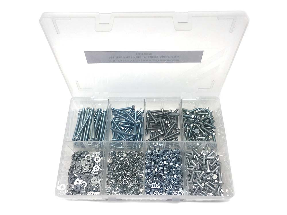 Assorted M4 Hex Setscrews, Nuts & Washers BZP