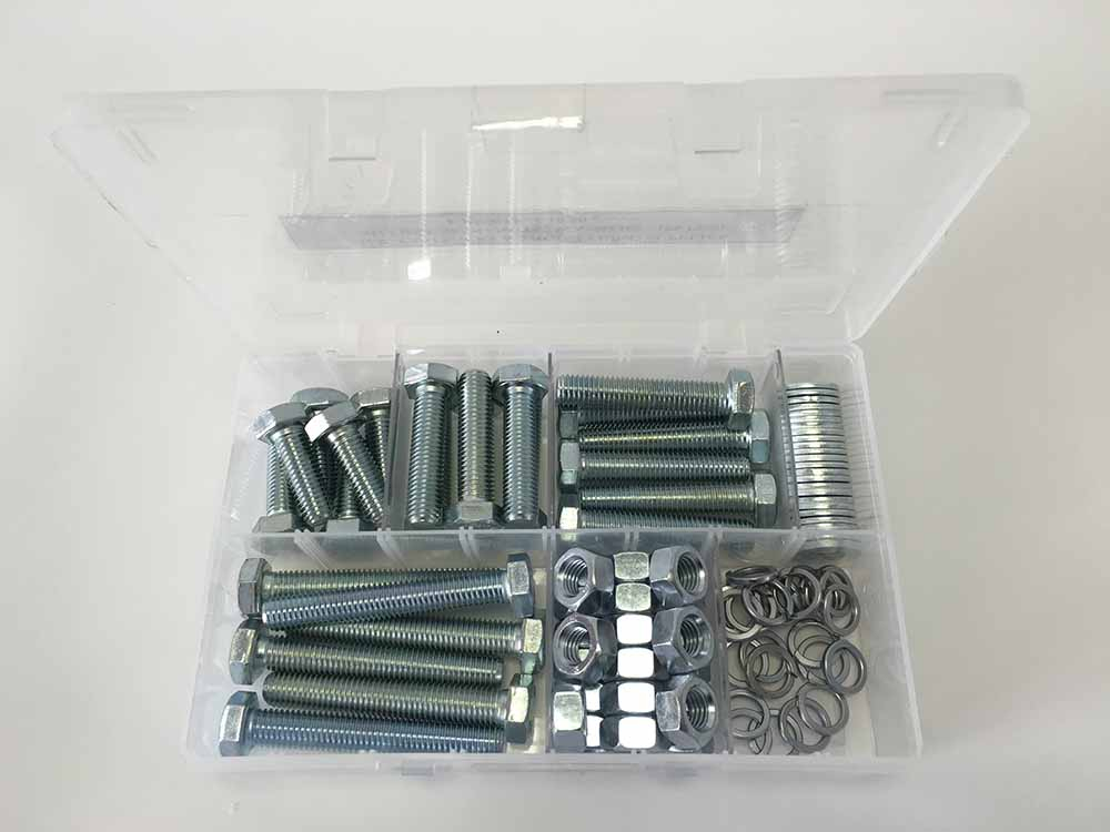 Assorted M12 Hex Sets, Nuts & Washers Kit