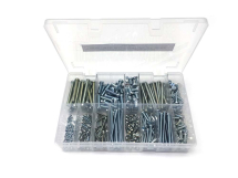 Assorted M3-M6 Cheese Head Screws BZP 400 Piece Kit