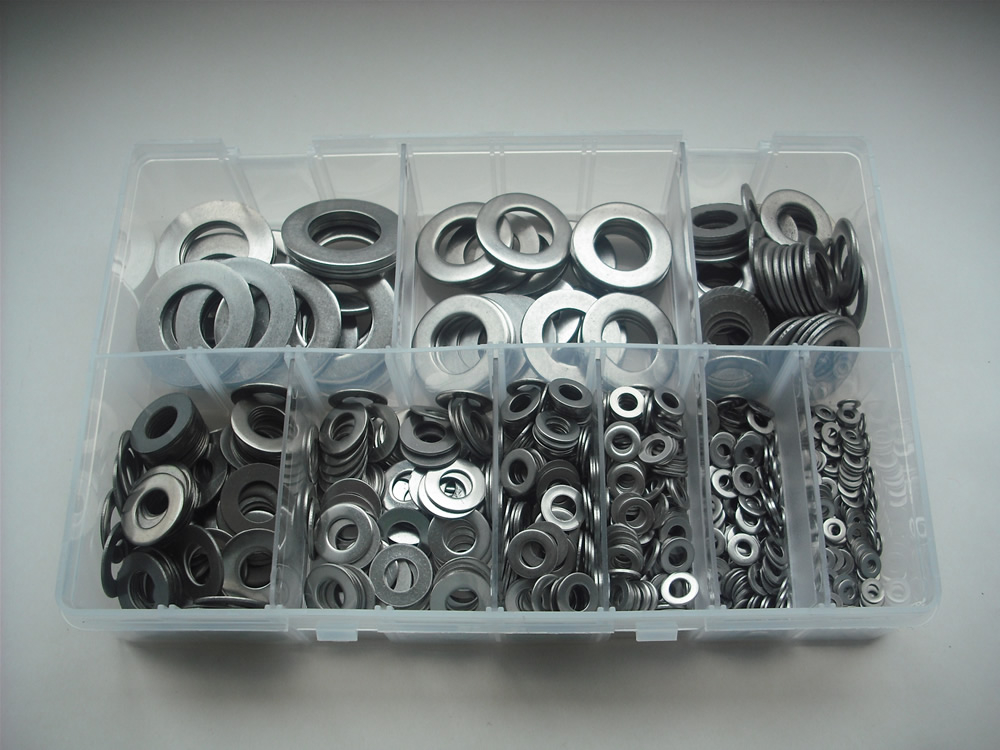 Assorted M3-M20 Stainless Steel Washers Kit
