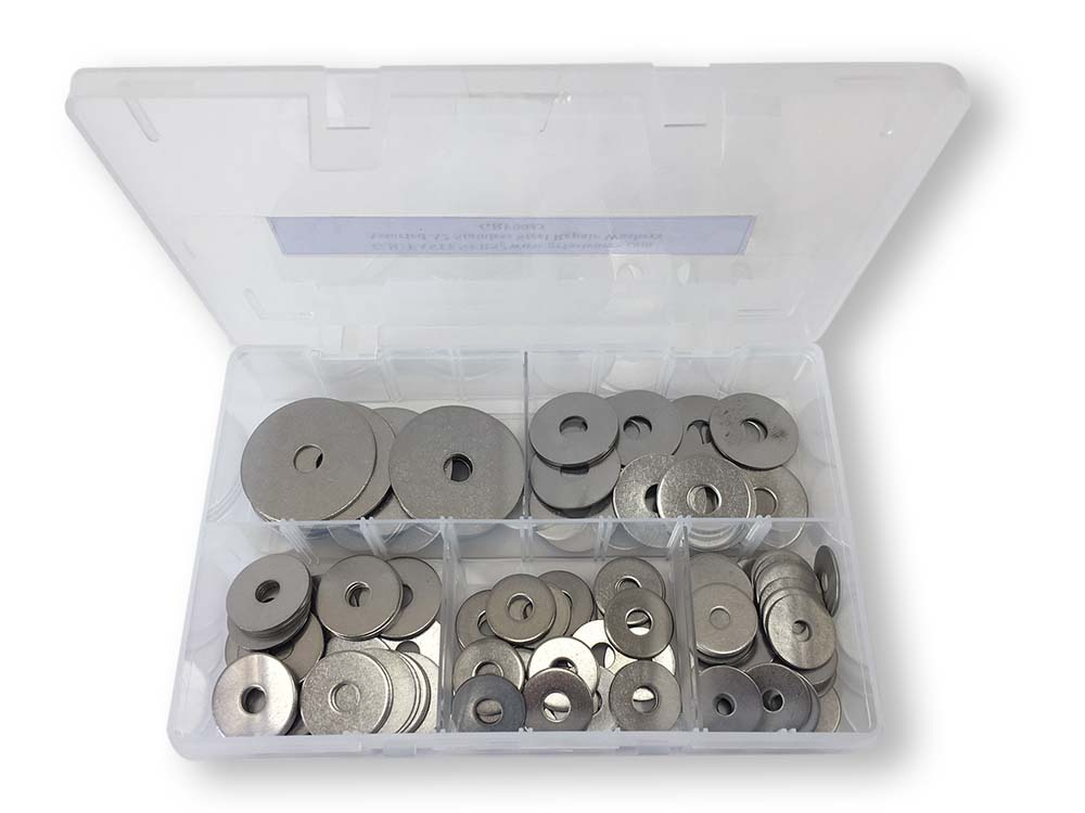 ASSORTED REPAIR WASHERS ST/ST (160PCS)