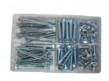 Assorted 78pce Socket Caps Kit Zinc Plated