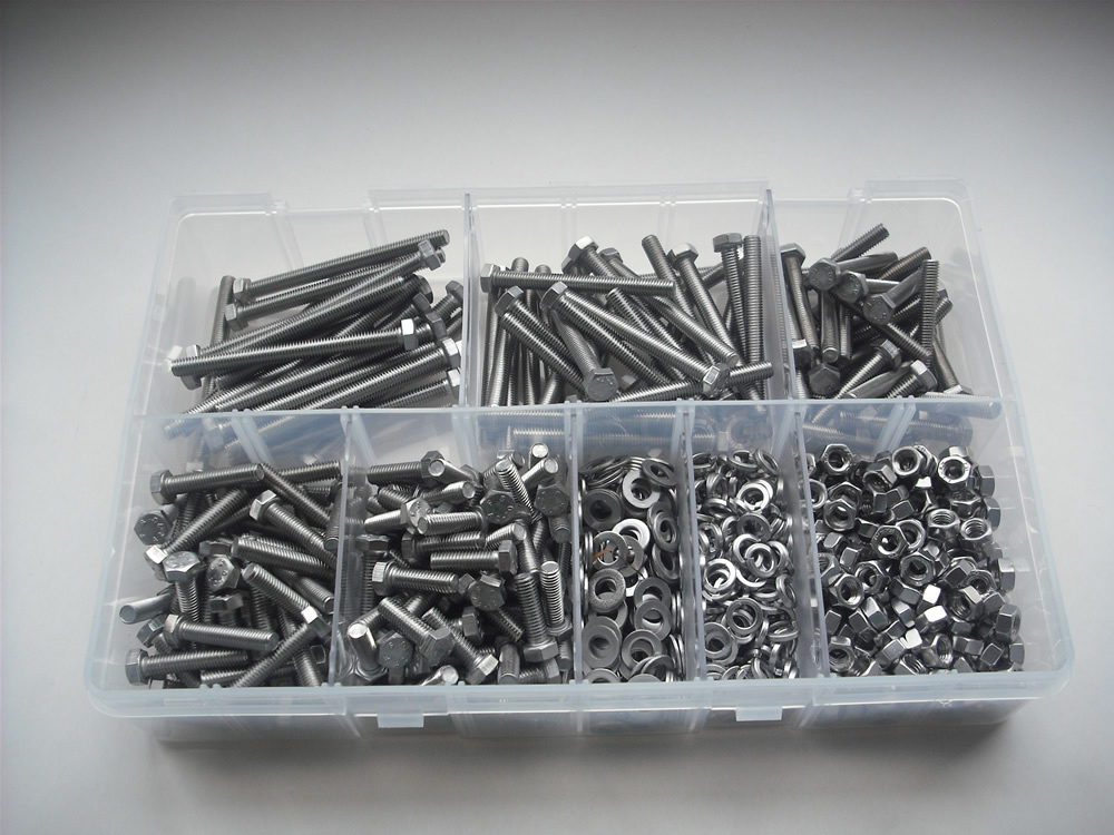 Assorted M5 Hex Sets, Nuts & Washers Stainless Steel Kit