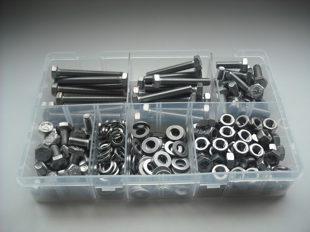 Assorted M8 Hex Sets, Nuts & Washers Stainless Steel Kit