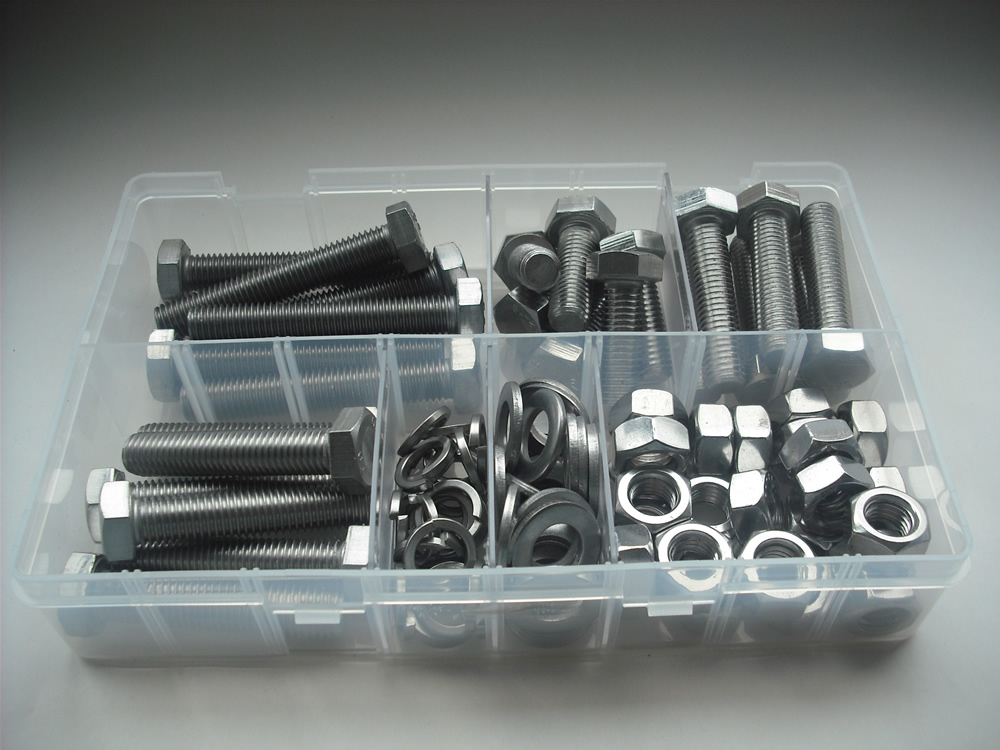 Assorted M12 Hex Sets, Nuts & Washers Stainless Steel Kit