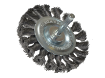Lessmann Knotted Wheel Brush with Shank 75 x 8mm 0.35 Steel