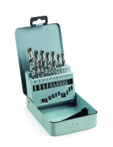 Addax Jobber Drill Set 19 Pieces 1mm-10mm
