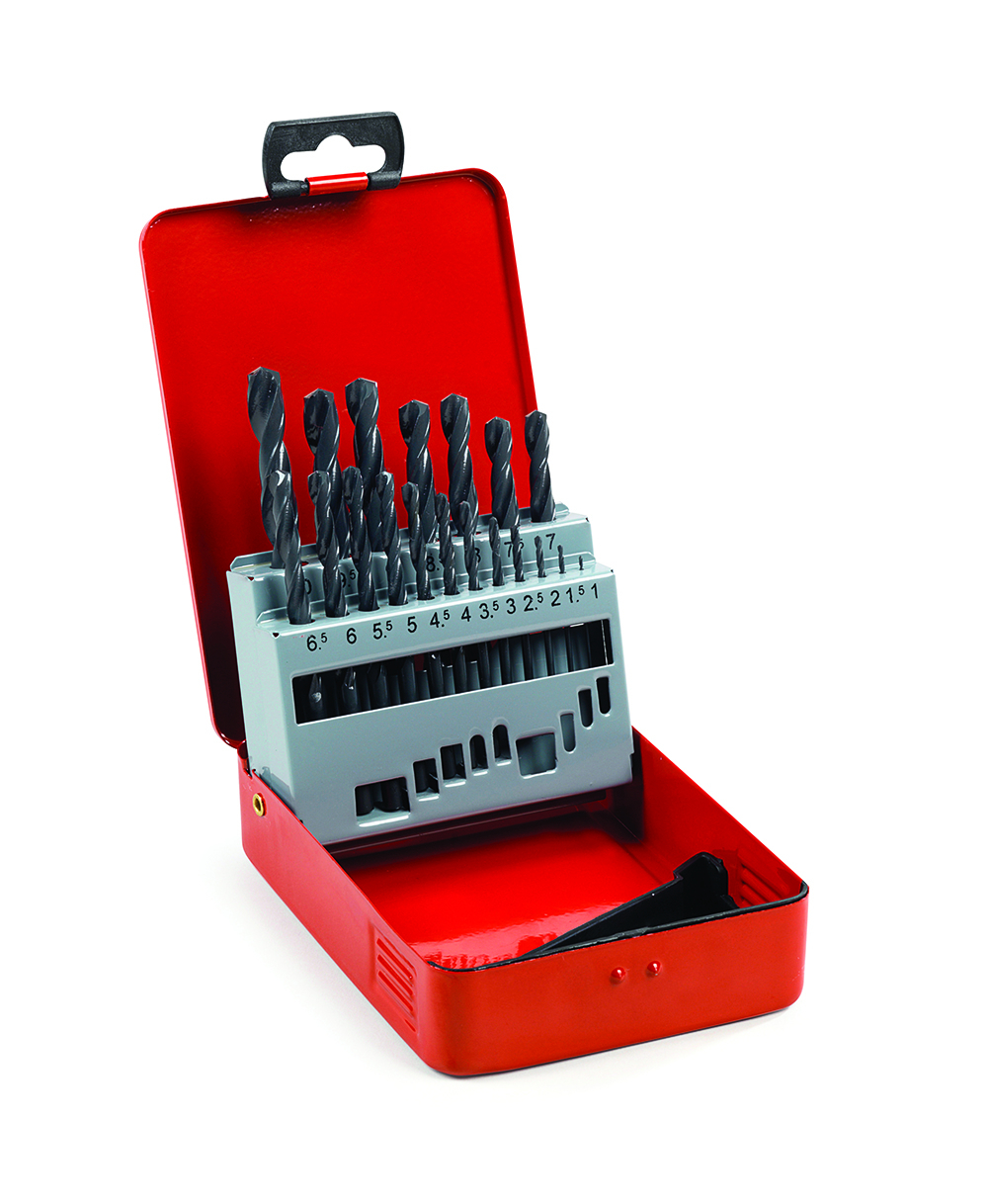 Addax HSS-R Jobber Drill Set 1-10mm 19 Pieces