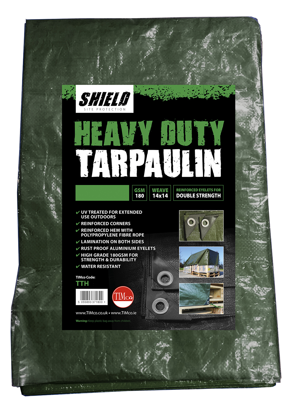 Shield Heavy Duty Tarpaulin 4m x 5m