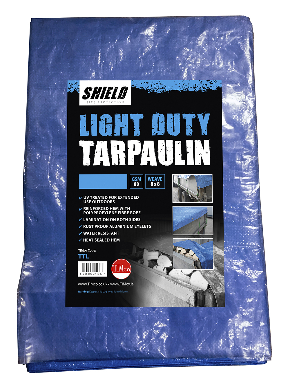 Shield Light Duty Tarpaulin 2m x 3m