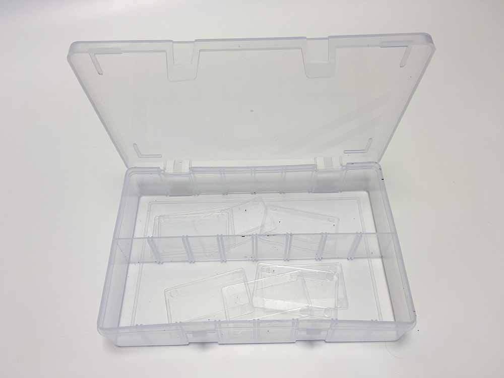 Clear Empty Assorted case With 8 Dividers