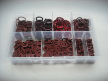 Assorted Red Fibre Washers Imperial
