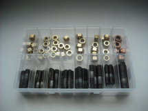 Assorted Manifold Nuts/Studs Brass Metric/Imperial
