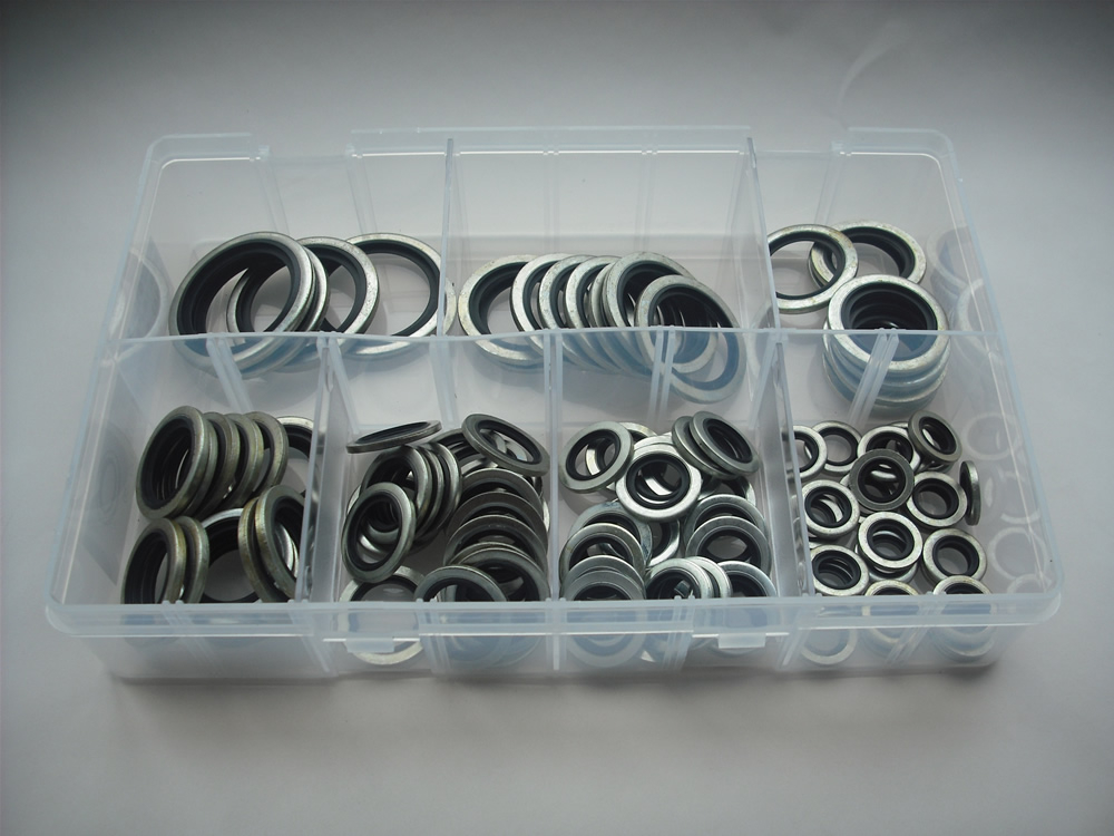 A02310 Assorted Imperial Bonded Seals 1/8BSP-1inchBSP 100 Pieces