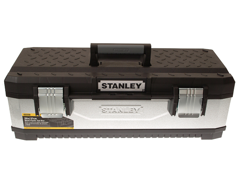 Stanley 195620 Galvanised Metal Toolbox 26in