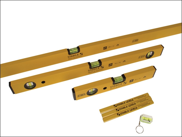 Stabila 70-2 Double Plumb Spir it Level Pack 30cm, 60cm & 180