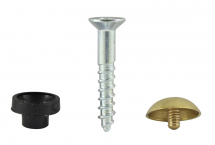 TIMco 8 x 11/2 Mirror Screw PZ2 Dome - Brass Box Of 200