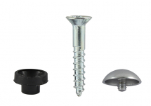 TIMco 8 x 11/2 Mirror Screw PZ2 Dome - Chrome Bag Of 8