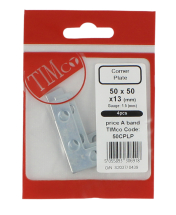 TIMco 50x50x13 Corner Plate 50mm Pack Bag Of 4