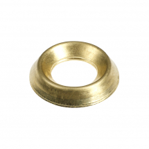 TIMco 6mm Surface Screw Cups - Brass Bag Of 60